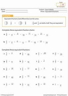 equivalent fractions year 4 by primaryleap teaching resources tes