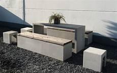 Moderne Parkbank Aus Echtem Beton Mit Holz Lattenrost