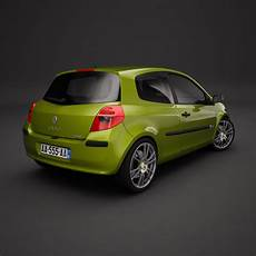 Renault Clio 3d Model Max Obj 3ds Dxf Cgtrader