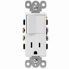 decorator 15a outlet and single pole 15 light switch with white cover ebay
