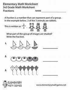 3rd grade math fractions worksheets free third grade fractions worksheet