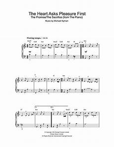 the heart asks pleasure first the promise the sacrifice digital sheet music by michael nyman