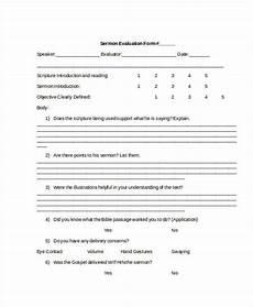 free 7 sle sermon evaluation forms in pdf word
