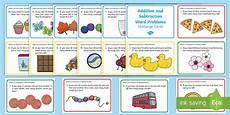 addition and subtraction word problems worksheets year 1 9882 addition and subtraction to 100 word problem challenge cards