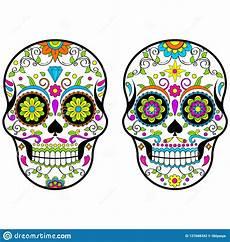mexican sugar skulls day of the dead vector illustration