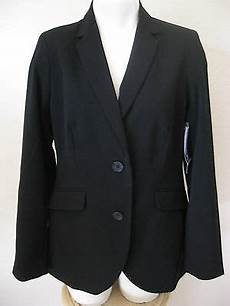 womens black blazer m 8 new george career versatile padded shoulder classic usd 28 49 end date