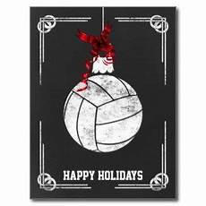 chalkboard volleyball player christmas cards volleyball sportquotes volleyballquotes karten