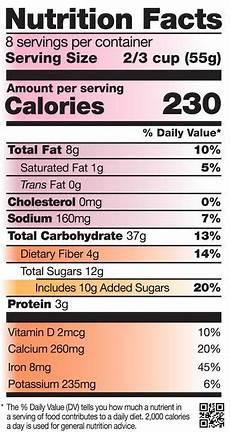label reading nutritioneducationstore com