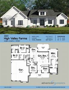 one story farmhouse house plans 1 story modern farmhouse plan high valley farms house