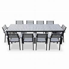 salon de jardin aluminium 12 personnes mobilier de