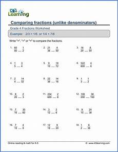 comparing and ordering decimals worksheets grade 4 7430 grade 4 math worksheet comparing proper fractions k5 learning