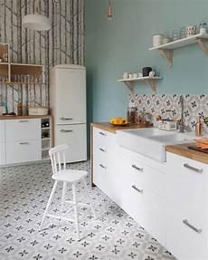 Cuisine Avec Carreaux De Ciment Decoration D Interieur Idee