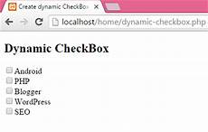 create dynamic checkbox in php using mysql database records android exles