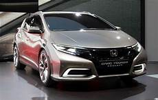 honda civic tourer honda civic tourer st concept black and silver