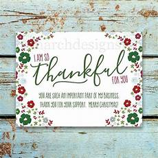business christmas thank you card printable instant