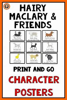 worksheets kindergarten 18335 maclary from donaldson s dairy and friends character cards book study children s