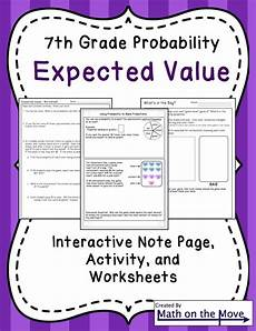 statistics and probability worksheets 7th grade 6010 german calendar pocket chart bundle for winter canadian version a well activities and student