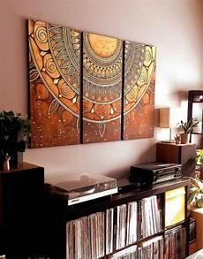 Mandala Zum Ausmalen Leinwand Bunt Malerei