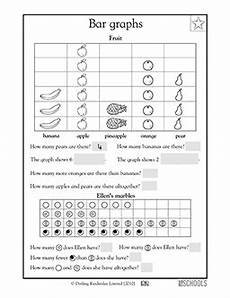 1st grade 2nd grade math worksheets fruit bar graph math activities math worksheets 2nd
