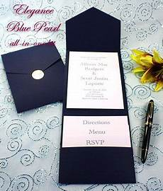 Navy Wedding Invitation Kits pocket invitation invitation kits and navy blue on