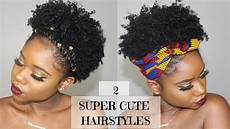 two super cute and easy hairstyles for short natural hair 4b c natural hair chev b youtube