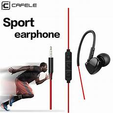 Cafele Type Wired Sport Earphone Stereo by Cafele Shock Sport Wire Earphones With Microphone