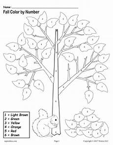 color by number fall coloring pages 18108 printable fall themed color by number worksheet supplyme
