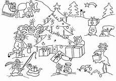 Ausmalbilder Weihnachten Tiere Wimmelbild Wuschels Malvorlagen