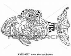 Ausmalbilder Erwachsene Fische Clip Fische Ausmalbilder Vektor F 252 R Erwachsene