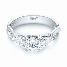 custom three stone diamond engagement ring 103503