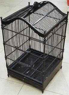 uccellini in gabbia gabbia in legno antico per uccellini artigianali nero