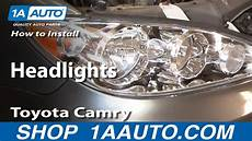how to replace install headlight toyota camry 102 how to replace headlight 05 06 toyota camry doovi
