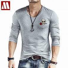 2018 new fashion brand skull embroidery slim fit