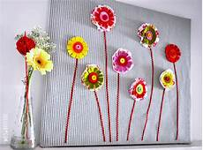 fabric flowers on canvas diy affordable fabric col