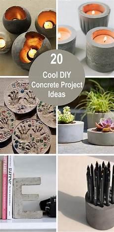 20 Cool Diy Concrete Project Ideas