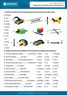 movement prepositions games esl activities worksheets