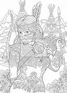 indianische muster malvorlagen ausmalbilder