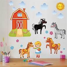 Ausmalbilder Bauernhof Mit Pferden Wandtattoo Kinderzimmer Bauernhof Set Mit Pferden