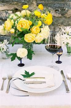yellow and blue wedding table once wed