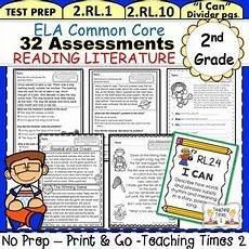 2nd grade common core ela assessments reading literature by teaching times 2