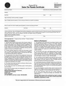 fillable online form st 4 sales tax resale certificate ce beckman company fax email print