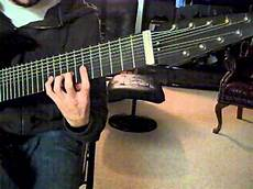 16 string guitar 9 note diatonic scale on 16 tone nine string guitar
