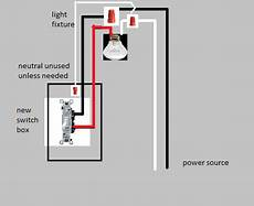 electrical how do i connect a light to a switch when the light receives power first home