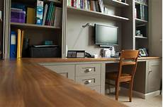 home office fitted furniture bespoke home office and shelves on two walls view 2