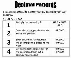 multiplying decimals worksheets by 10 and 100 7065 finding decimal patterns multiplying by 10 100 and 1 000 multiplying decimals sixth grade