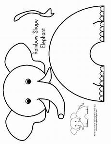 elefant basteln vorlage e is for elephant preschool elephants