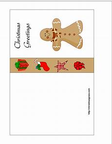 free printable card with gingerbread