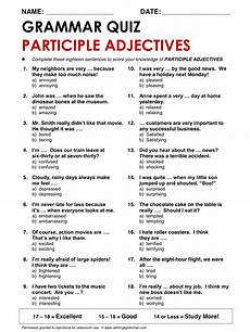 english grammar participle adjectives allthingsgrammar com participle adjectives ed ing