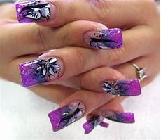 cool purple nail art design purple nail designs purple