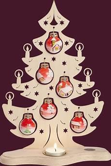 leuchter quot tannenbaum quot mit handbemalten kugeln